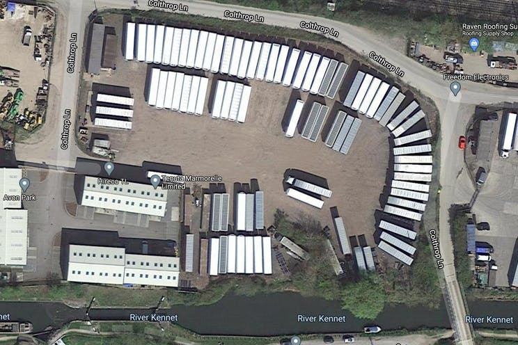 Secure Yard At Colthrop Lane, Thatcham, Open Storage To Let / For Sale - Aerial photo.jpg