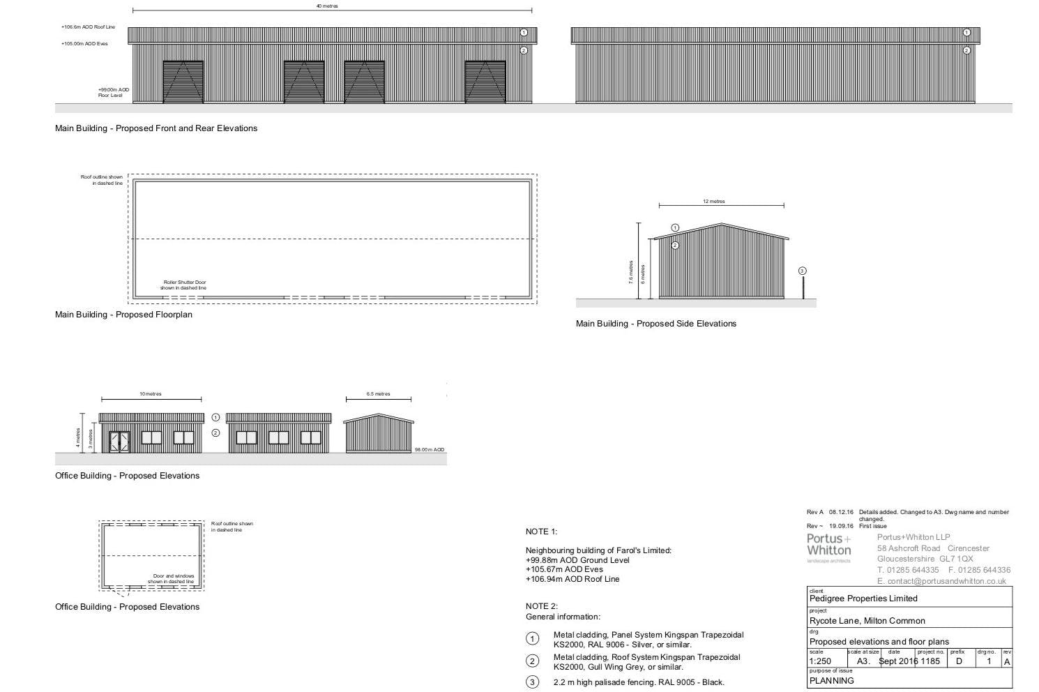 Industrial Development, Rycote Lane Farm, Milton Common, Office / Industrial To Let - ELEVATIONS.jpg