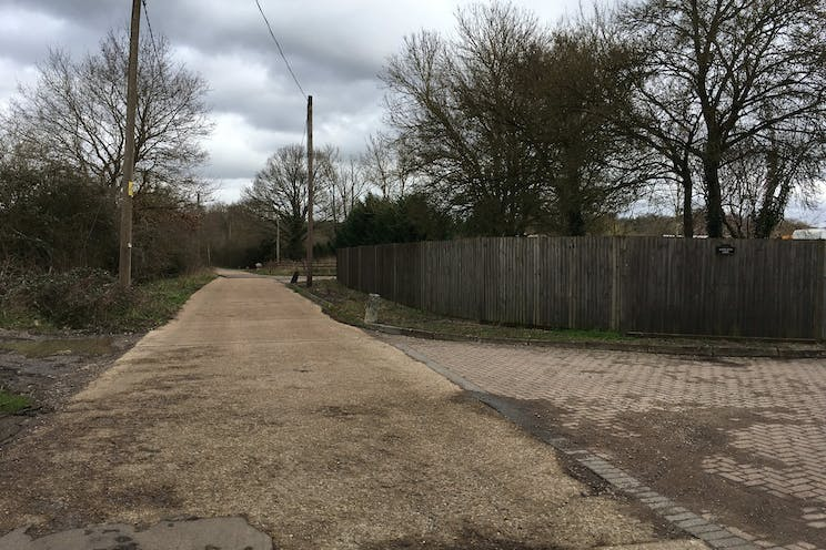 Woodlands Farm, Wokingham, Development, Land For Sale - Wood Lane Eastbound towards open yard entrance