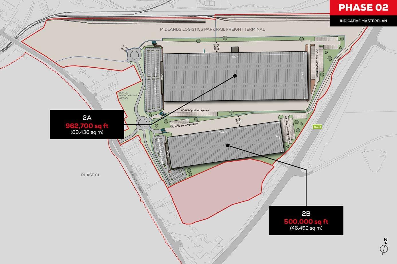 Midlands Logistics Park, Northamptonshire, Distribution Warehouse / Industrial (Multi Let Scheme) To Let - MLP Masterplan - PHASE 2.JPG