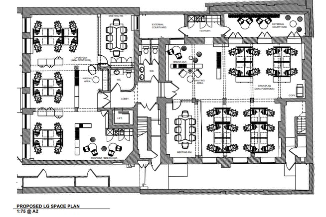 Lower Ground, 1-2 Castle Lane, Victoria, London, Office To Let - Lower Ground floor plan.PNG