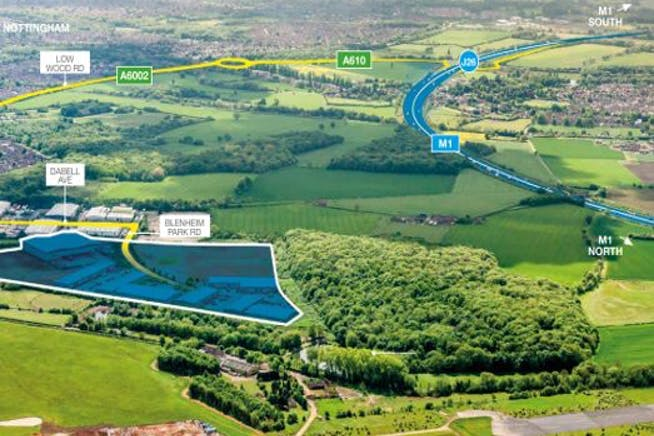 Blenheim 24, Blenheim Industrial Estate, Nottingham, Distribution Warehouse To Let - Blenhiem Park Estate aerial.jpg