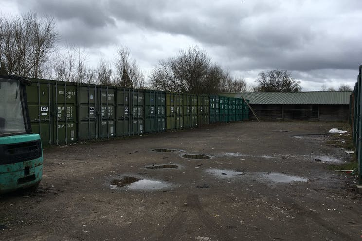 Woodlands Farm, Wokingham, Development / Land For Sale - Area of storage containers in front left quadrant of the site