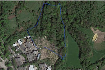 Land At Burgess Road, Hastings, Land For Sale - 2056 Blue line on aerial photo_2020.07.14.jpg