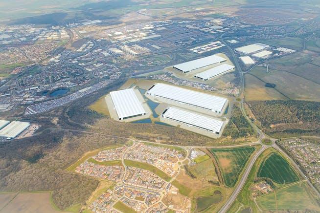 Midlands Logistics Park, Northamptonshire, Distribution Warehouse / Industrial (Multi Let Scheme) To Let - Aerial 2 amend.jpg