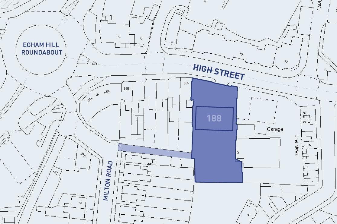 188 High Street, Egham, Office To Let - 188 High Street Egham site plan.jpg