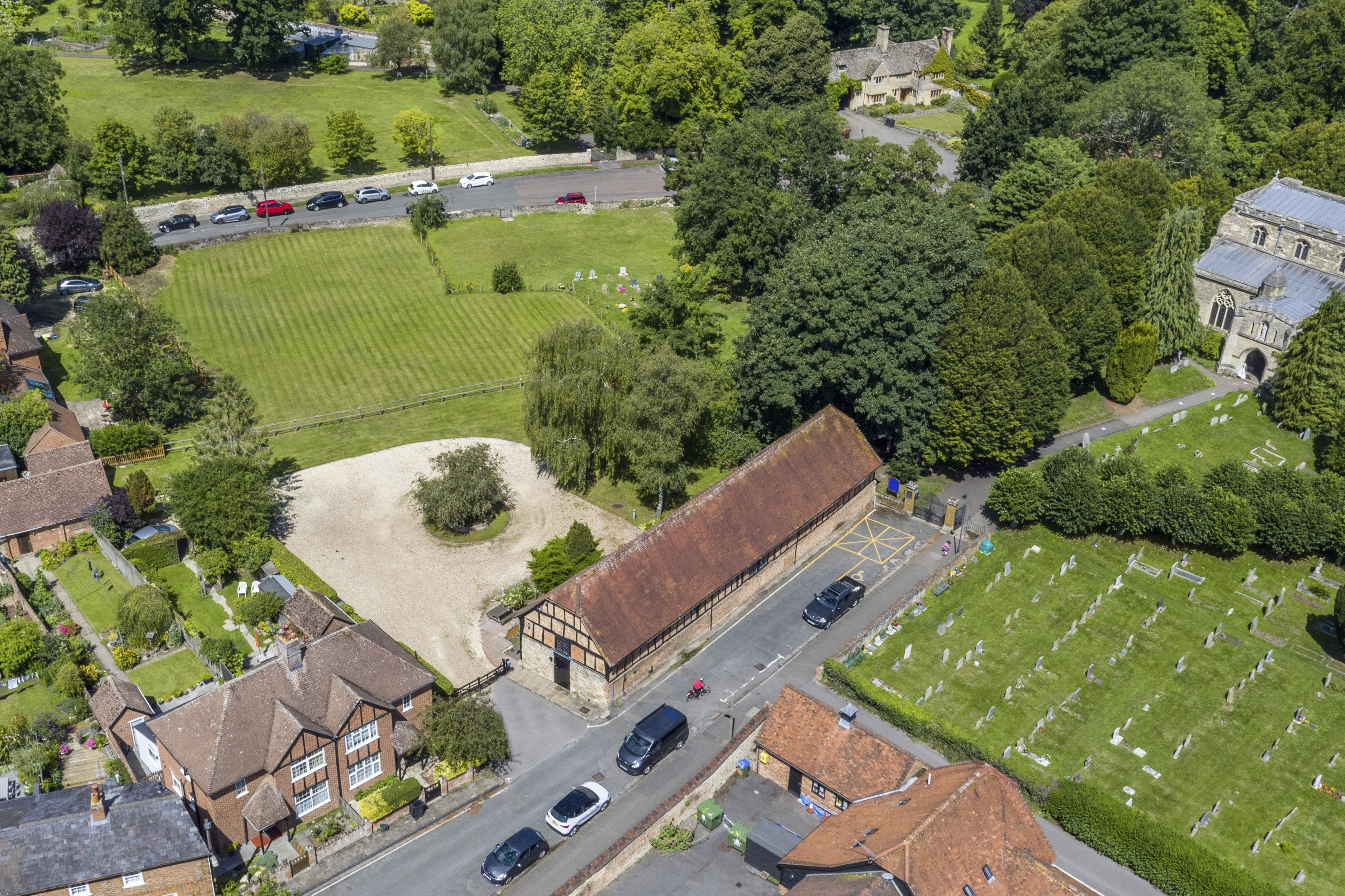 Tithe Barn Church Road, Thame, Office / Residential / Investment To Let - AERIAL 1.jpg