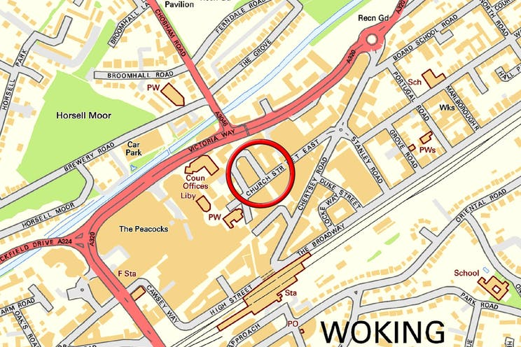 Hollywood House, Church Street East, Woking, Offices To Let - Town Map