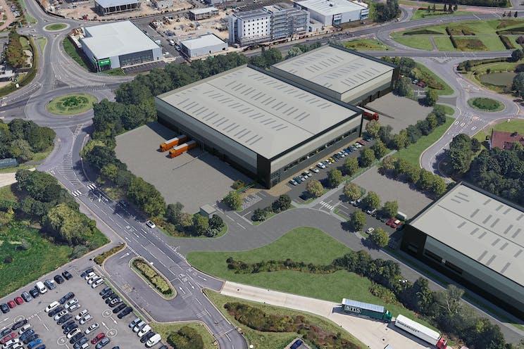 Reading International Logistics Park, Reading, Reading, Industrial / Office To Let - Reading International Aerial 3 20-11-19.jpg