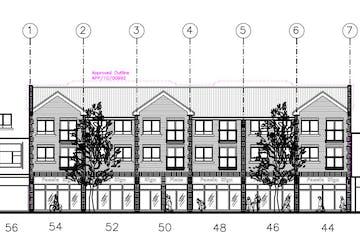 Units A-D, 44-54 West Street, Havant, Retail / Leisure / Restaurant / Takeaway / Office To Let - Front Drawing 4454 West Street Havant.JPG