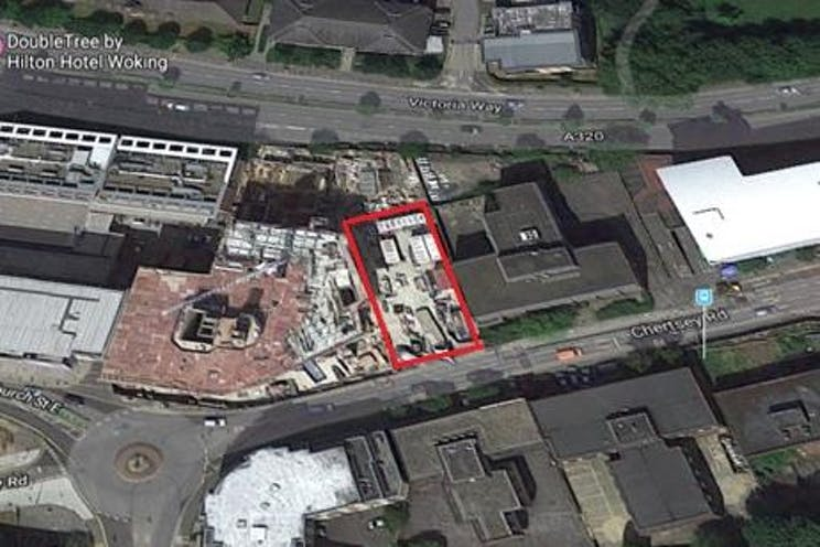 Site Formerly Known as Trizancia House, 74 Chertsey Road, Woking, Development (Land & Buildings) For Sale - trizancia site outline.jpg