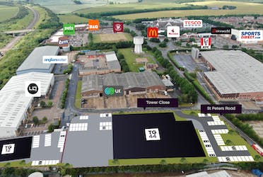 TG12, Tower Gate, Huntingdon, Industrial To Let - Tower Gate Aerial .PNG - More details and enquiries about this property