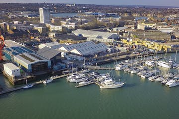 Unit 11 Ocean Quay Marina, Southampton, Office / Industrial To Let - marina aerial 2016.jpg