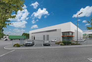 Arrow Point Beckton, Claps Gate Lane, London, Industrial To Let - Industrial Unit with new sky.jpg - More details and enquiries about this property
