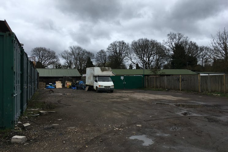 Woodlands Farm, Wokingham, Development / Land For Sale - Area of storage containers in from left quadrant showing second internal gates