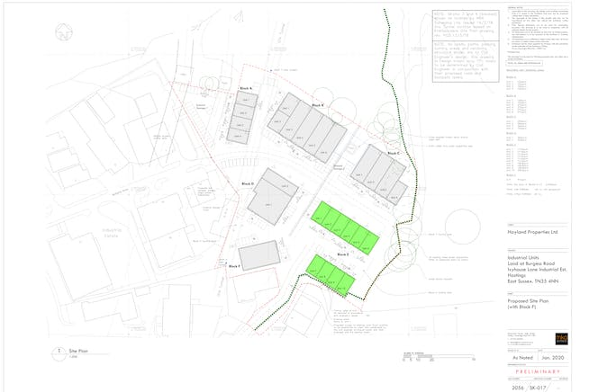 Platform Business Centre, Hastings, Industrial To Let - 2056-SK-017 Site Plan (with Blk F).jpg