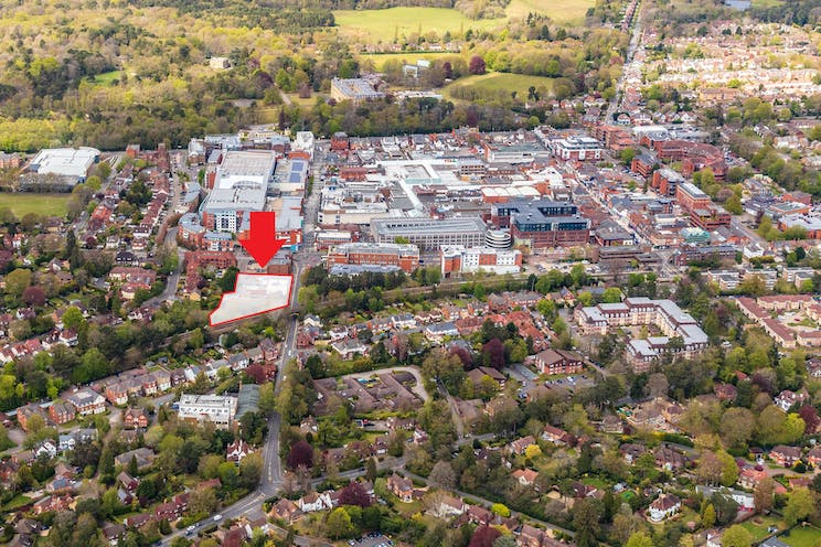 84-100, Park Street, Camberley, Development (Land & Buildings) / Investment Property / Offices / Retail For Sale - HLP_OB_210505_9858 b towards TC shaded.jpg