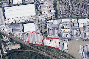 Kybotech, Dukeries Industrial Estate, Claylands Avenue, Distribution Warehouse To Let - Aerial of the site.JPG