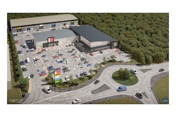 Beacon Trade Park, Beacon Hill Road, Fleet, Warehouse & Industrial To Let - 4 UNIT CGI aerial.jpg