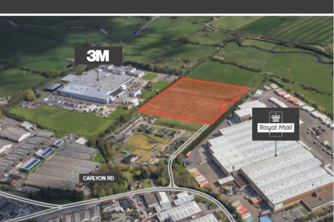 Carlyon Road, Atherstone, Distribution Warehouse / Land To Let / For Sale - Front cover brochure.JPG