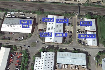 Fairwood Industrial Estate, Leacon Road, Ashford, Warehouse / Industrial To Let - Fairwood Aerial.JPG