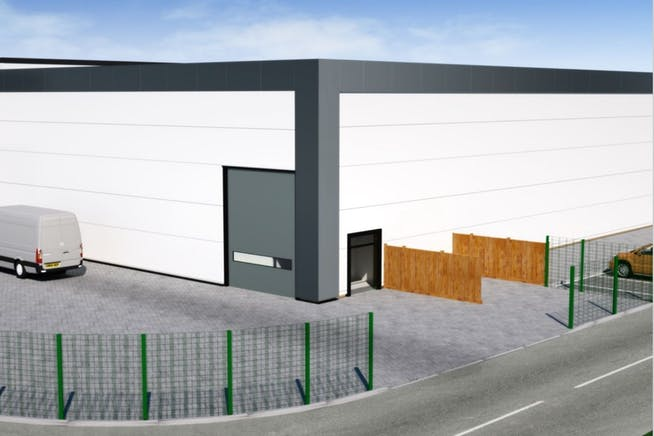 Golden Gate Park, Belgrave Circle, Leicester, Distribution Warehouse To Let / For Sale - CGI of shed.JPG