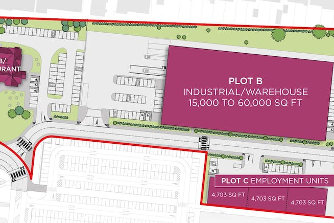 Troon Park, Melton Road, Leicester, Distribution Warehouse To Let / For Sale - Layout of site for Troon Park.JPG