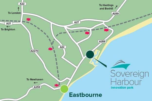 Unit 18e Pacific House, Sovereign Harbour Innovation Park, Eastbourne, Office To Let - SHIP local map.jpg