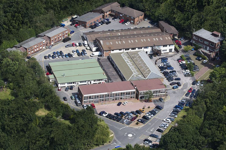 Lansbury Business Estate, Lower Guildford Road, Woking, Offices / Warehouse & Industrial To Let - Lansbury aerial unmarked.jpg