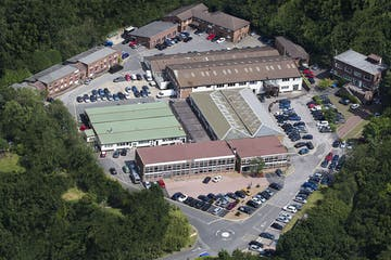 Unit 211 Lansbury Business Estate, Lower Guildford Road, Woking, Offices To Let - Lansbury aerial unmarked.jpg