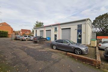 Unit 2 Capital Park, Combe Lane, Godalming, Warehouse & Industrial / Offices For Sale - FrontElevationRedLine.jpg