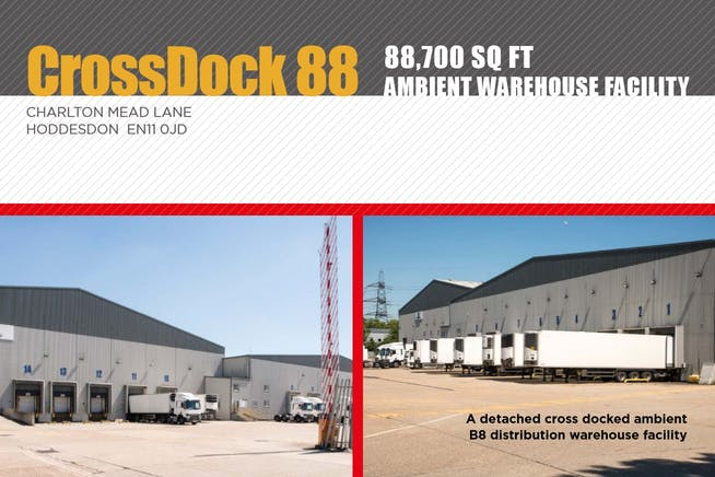 Crossdock 88, Hoddesdon, Distribution Warehouse To Let / For Sale - Front cover Brochure.JPG