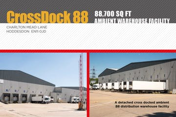 Crossdock 88, Hoddesdon, Distribution Warehouse To Let / For Sale - Front cover Brochure.JPG