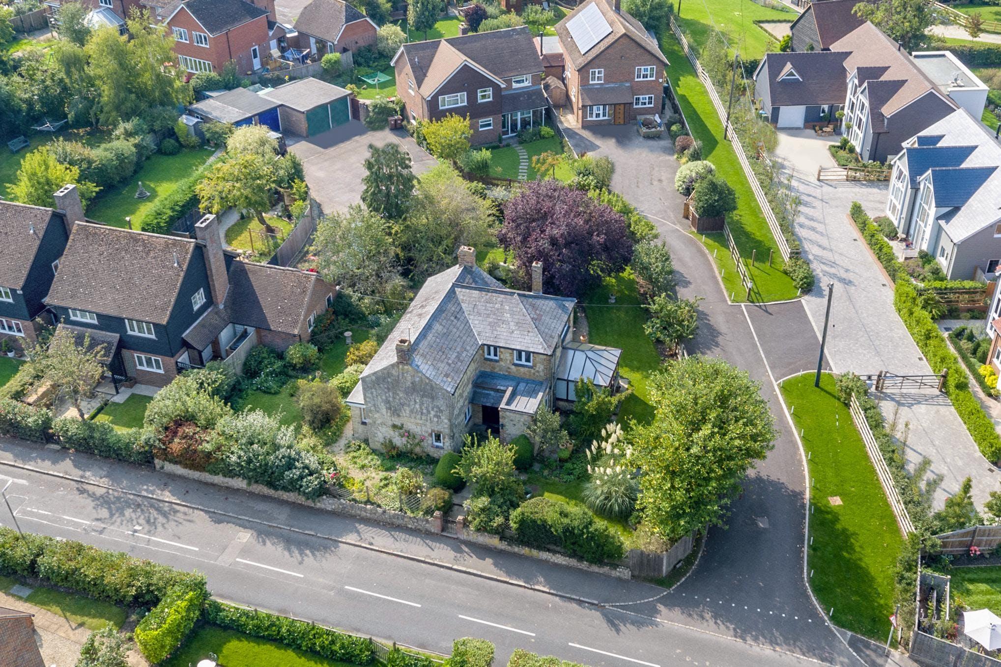 Vine Cottage The Vines, Shabbington, Residential For Sale - AERIAL.jpg