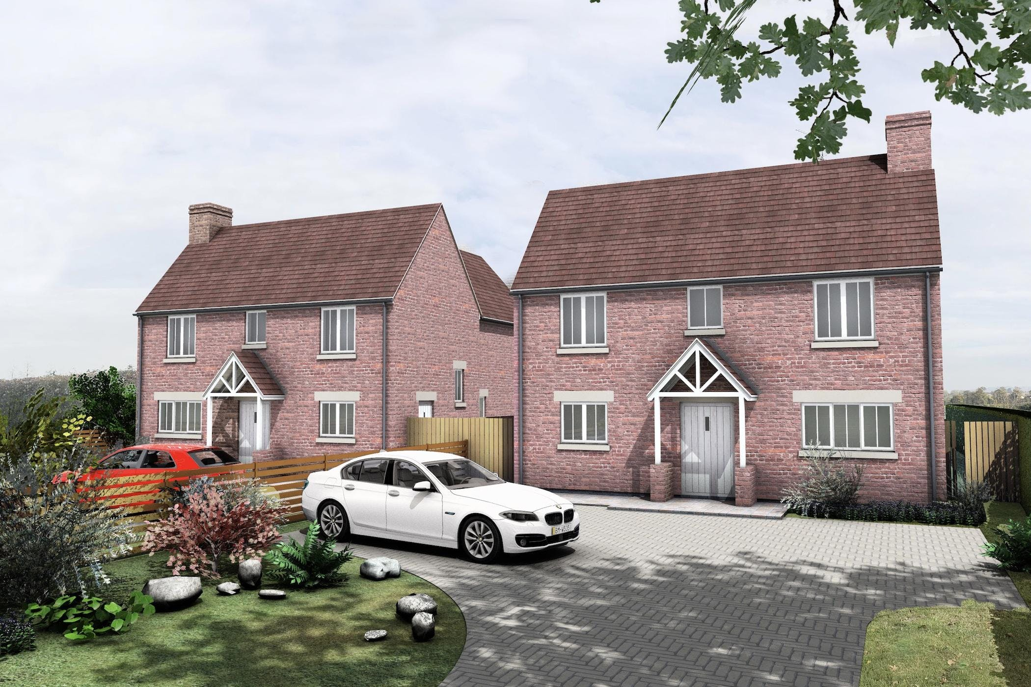 Development opportunity, Roundhill Cottages Kimblewick Road, Little Kimble, Land For Sale - CGI.jpg