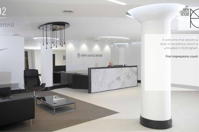 Newcastle House, Castle Boulevard, Nottingham, Office To Let - Entrance hall.PNG