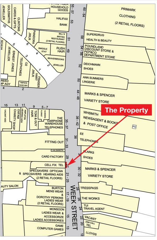 27 Week Street, Maidstone, Retail For Sale - Goad Plan 27 Week.jpg