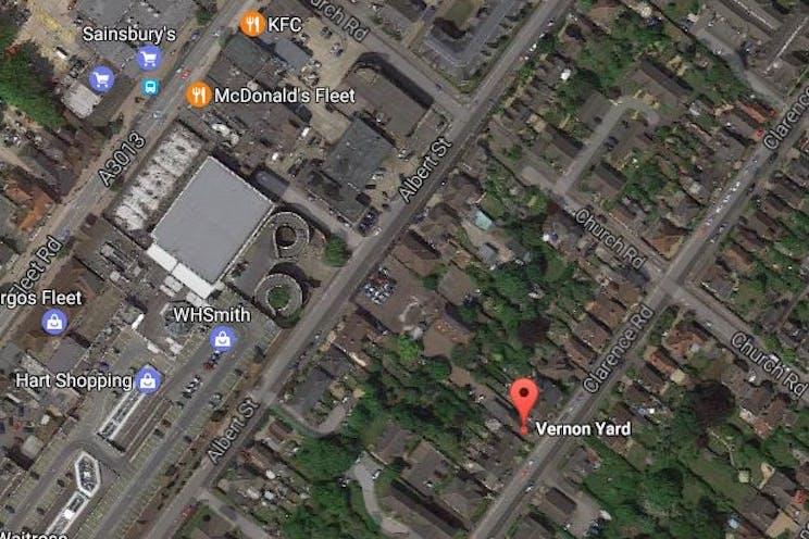 Vernon Yard, Fleet, Offices For Sale - Aerial 1