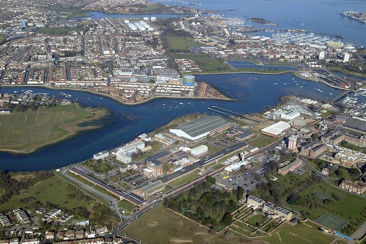 Building 145, Haslar Marine Technology Park, Gosport, Office To Let - Aerial Image, Haslar (2006 image) - Chris Brunnen 11022020.jpg
