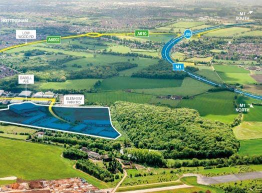 Blenheim 81, Blenheim Industrial Estate, Nottingham, Distribution Warehouse To Let - Blenhiem Park Estate aerial.jpg