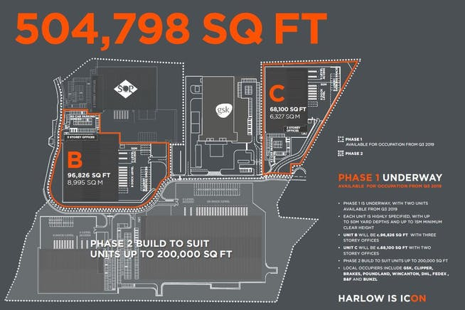 Icon, Harlow, Harlow, Distribution Warehouse To Let - Phase1-Masterplan.JPG