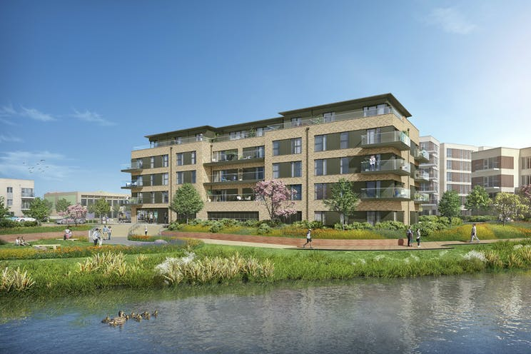 Unit 1 Green Park Village, Market Square, Reading, Retail To Let - GPV  Unit 1 view from lake.jpg