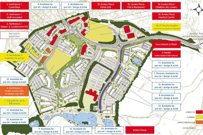 Development Plots - Eureka Business Park, Trinity Road, Ashford, Office / Land / Development To Let / For Sale - Master Plan.jpg