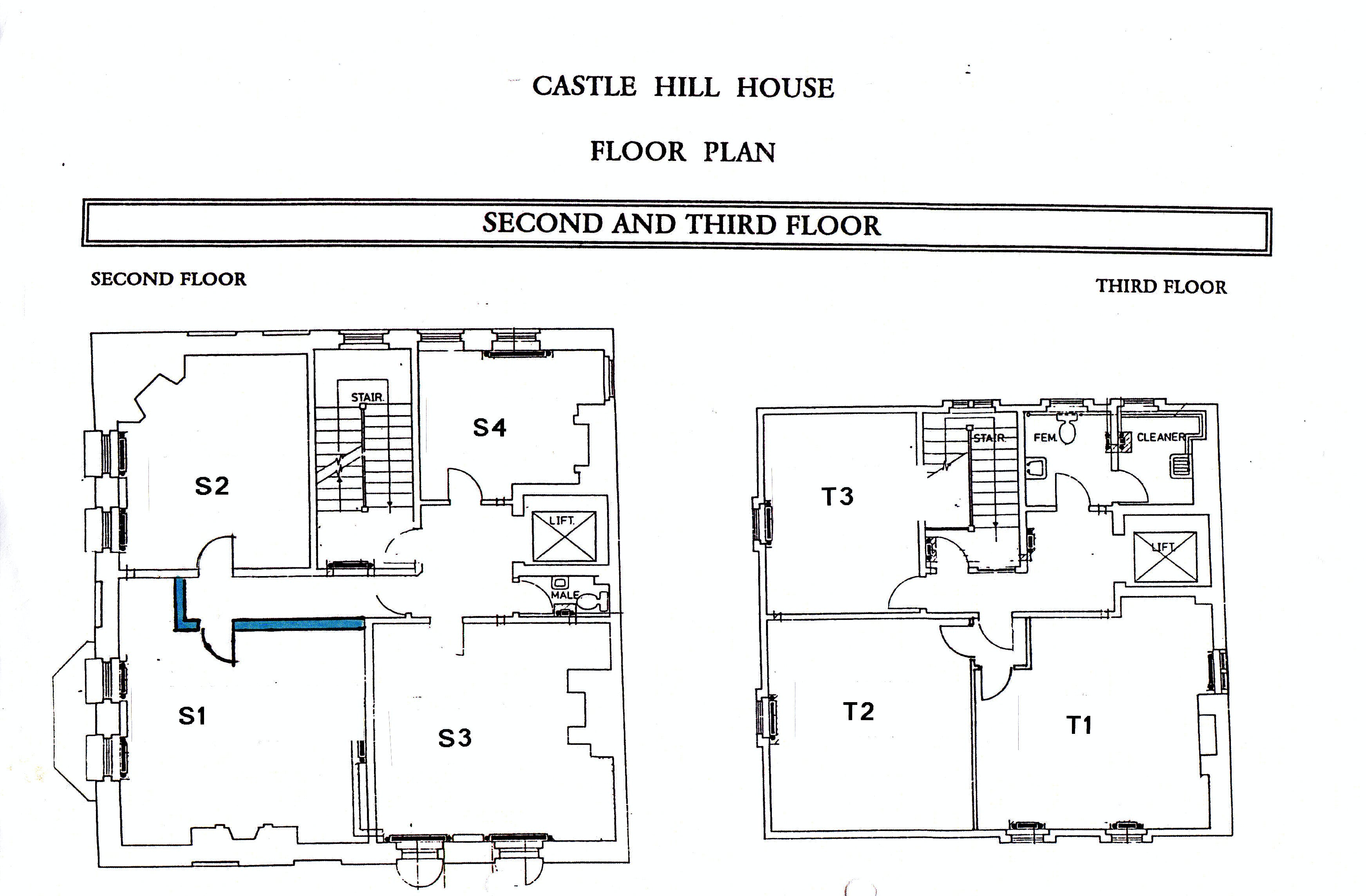 Castle Hill House, Castle Hill, Windsor, Serviced Office To Let - Second & Third floor plans.jpg