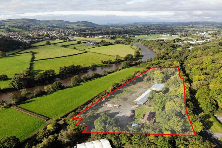Land At Woodwise, Builth Wells, Builth Wells, Land, Development For Sale - DroneAerialViewforFrontPage.jpg