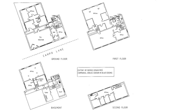 54 Campo Lane, Sheffield, Offices / Retail / Investments For Sale - 54 Campo Lane floor plans.jpg