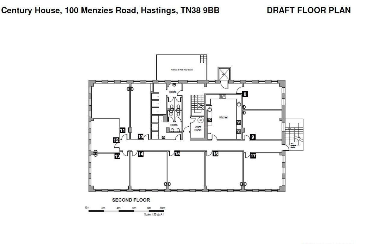 Century House, Hastings, Office To Let - 2nd Fl plan.JPG