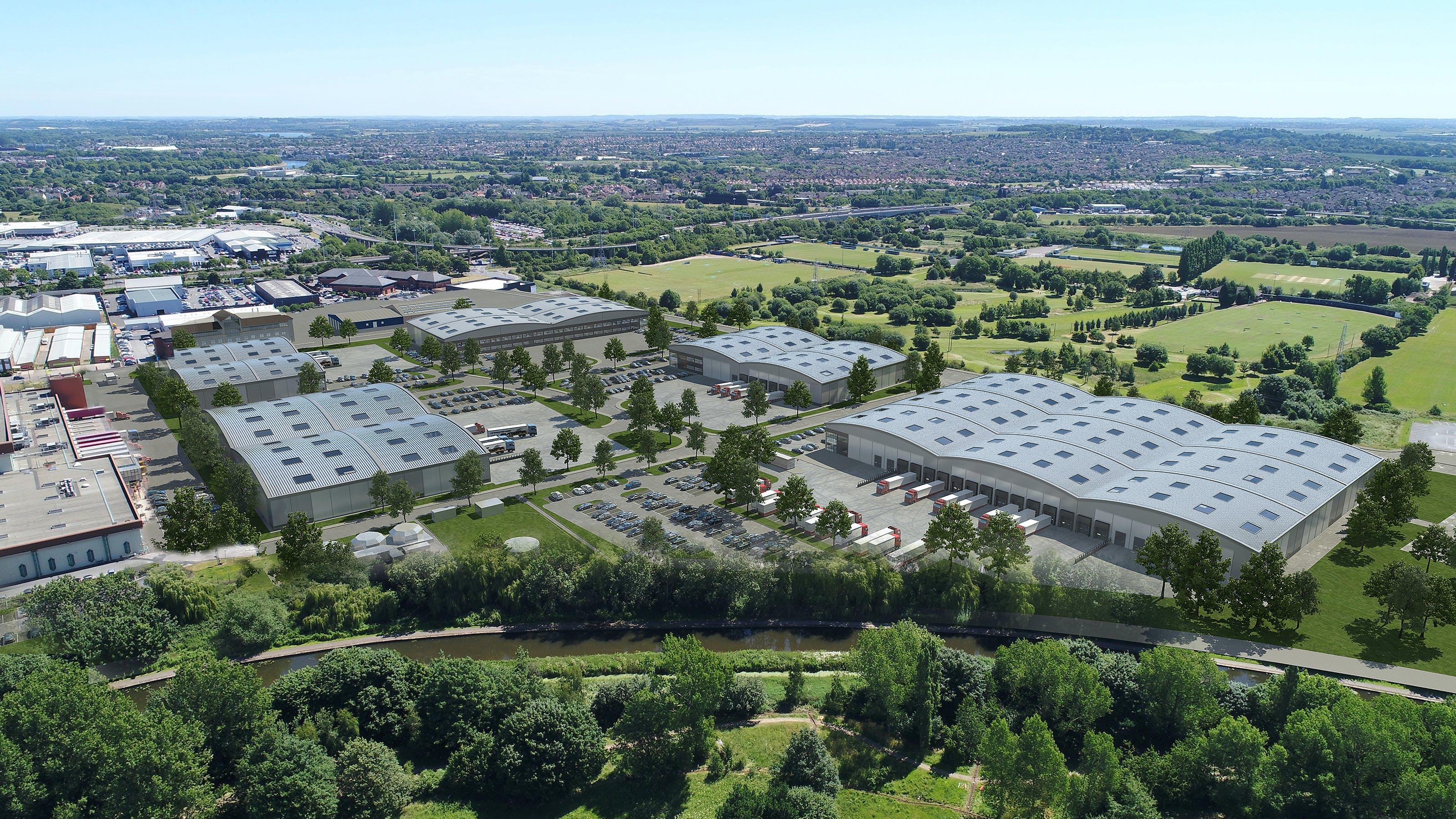 New Horizon, Thane Road, Nottingham, Distribution Warehouse To Let - CGi 2 for 6 unit scheme.jpg