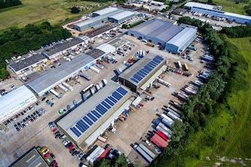 Lympne Distribution Park, Otterpool Lane, Hythe, Warehouse / Industrial To Let - Lympne Distribution Park - Aerial Image.jpg