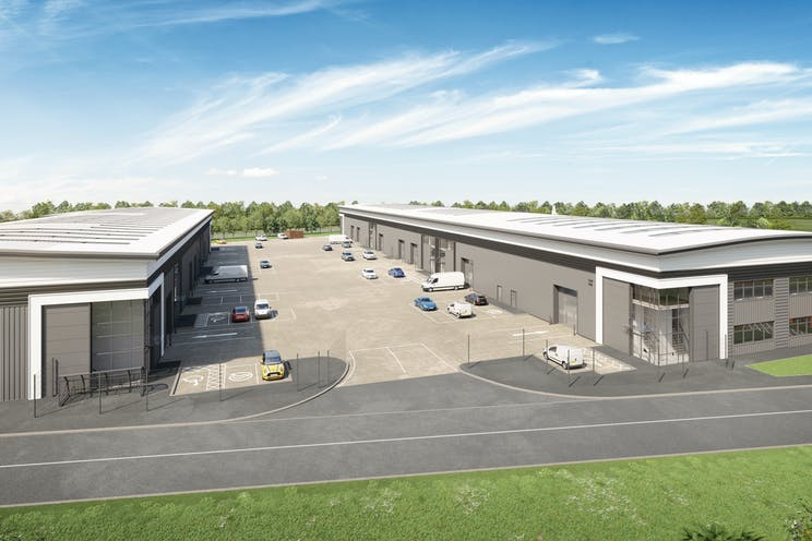 Verda Park, Hithercroft Road, Wallingford, Industrial To Let - CGI of Units 100 & 200